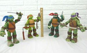 """2012 Playmates Teenage Mutant Ninja Turtles 10"""" Action Figures LOT OF 4 TMNT"""