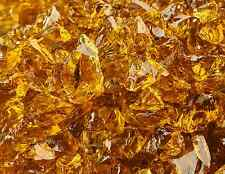 "10 Lbs of Fire Glass 3/8""-1/2"" Cowboy Brown Crushed Fireglass for Fireplace"