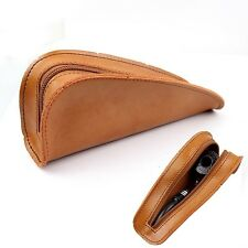 Portable Geninue Leather Single Holder Pouch Bag Tobacco Pipe Case for Smokin...