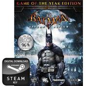 BATMAN ARKHAM ASYLUM GAME OF THE YEAR EDITION GOTY PC STEAM KEY