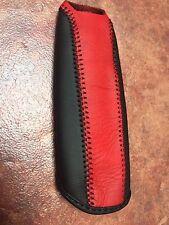 06-11 HONDA CIVIC REAL LEATHER EBRAKE HAND BRAKE COVER WITH RED TOP/BLACK BOTTOM