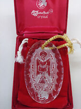 Waterford Crystal 1981 Angel of Peace Christmas Ornament W/ Box and Pouch