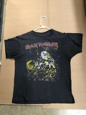 Iron Maiden 1985 Live after Death vintage concert tour shirt 2 sided