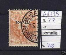 FRANCOBOLLI ITALIA COLONIE SOMALIA USATI N°22 (A1775)