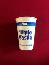 """1980's, White Castle, """"Un-Used"""" Paper Cup (Scarce / Vintage)"""
