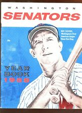 1958 MLB Baseball Washington Senators Yearbook EX