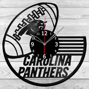 Vinyl Clock Carolina Panthers Record Wall Clock Home Art Decor Handmade 5209