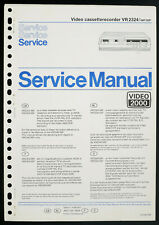 PHILIPS VR2324 Original Videorecorder Service-Manual/Diagram/Parts List o212