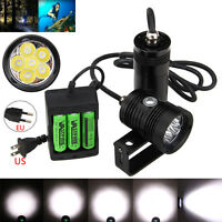 Underwater 150m 20000LM 6x XM-L2 LED Diving Scuba Flashlight+Battery+Charger New