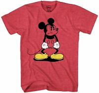 Mickey Mouse Standing MAD Disney World Retro Fun Adult Mens Graphic T-shirt Tee