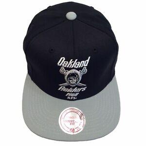 Oakland Raiders Mitchell & Ness AFL Throwback Adjustable SnapBack Cap Hat $26