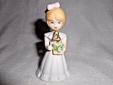 Birthday Girl Age 4 Vintage Enesco Growing Up  Doll  Blonde Girl Figurine 1981