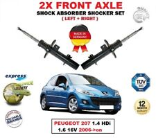 FOR PEUGEOT 207 1.4 HDi 1.6 16V 2006->on 2X FRONT LEFT RIGHT SHOCK ABSORBERS SET