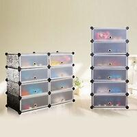 16 Pairs Shoes Interlocking Cube Storage Shoe Rack Stand Organizer Clothe Holder