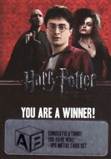 Harry Potter & the Deathly Hallows Part 2 Unredeemed Winner Redemption Card b