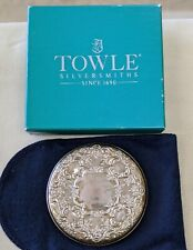 Towle Sterling Silver Compact Mirror New In Box