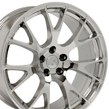 """22"""" Hellcat Style Wheels For Dodge Charger Challenger Magnum Chrome Rims Set 4"""