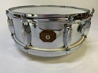 1970's  Gretsch  14x5 snare drum (chrome over brass)