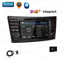 "DAB+ Integriert 7"" Autoradio DVD GPS 8GB Karte für Benz W211 E Klasse CLS-W219"