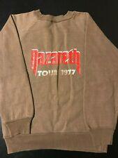Vintage 70s 1977 Nazareth Metal Rock Tour Sweatshirt Queen's Silver Jubilee
