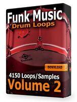 Funk Drum Loops Volume 2 Pro Tools FL Studio Ableton LogicPro Reaper WAV Cubase