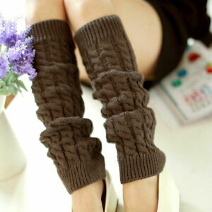 Retro Fashion Print Socks Women Boot Leg Warmers Knee High Knit Crochet Legging
