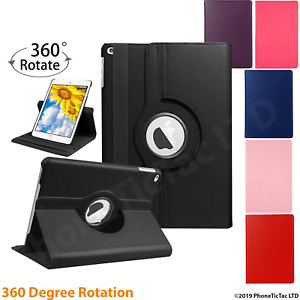 Leather 360 Rotating Smart Case Cover Apple iPad Air 2 Pro 12.9 Air 10.9 Mini 5