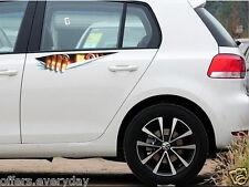Car Sticker 3D Eyes Peeking Monster Car Thriller Rear Window Decal