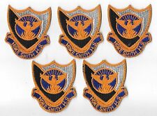 LOT OF 5 FULL COLOR HOKE HIGH SCHOOL R.O.T.C.  PATCHES(M/P 3253)