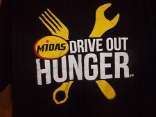 MIDAS Drive out Hunger black XL t shirt Auto Repair