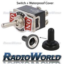 Impermeable De Palanca Flick Switch 12v on/off/on coche DASH Luz Metal 12 Voltios Dpdt