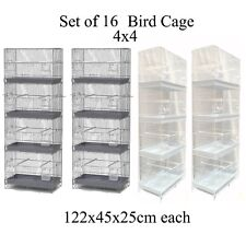 Set of 16 Breeding Bird Cage Parrot Cage Aviary Small Size Birds 122cm D660