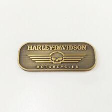 3D Metal Willie G Skull Brass Emblem / Medallion For Harley Davidson Tank / Body