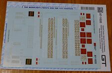 Microscale Decal HO #87-1020 Grand Trunk, & Western, Central Vermont, Duluth Win