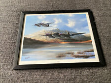 "Mosquito by Barry Price Art Print 17.5"" x 13.5"" Framed Aircraft RAF WWII Bomber"