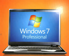 Windows 7 Professional 64 & 32 bit Full Version w SP1 DVD &  Product Key on COA