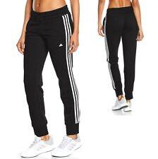 Adidas Damen Trainingshose Jogginghose Laufhose Sport Freizeit Hose schwarz/weiß