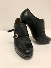 FRATELLI ROSSETTI Oxford Brown Leather  Heels 8.5 M Italy