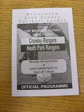 05/04/2004 Millennium 2000 Sunday League Vase Final: Crawley Rangers v Heath Par