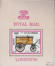 Cambodge Bloc 172 (complète edition) neuf avec gomme originale 1990 diligences