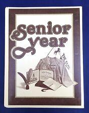 Vintage SENIOR YEAR Scrapbook Photo Album Diary Memory Book Keepsakes Autographs