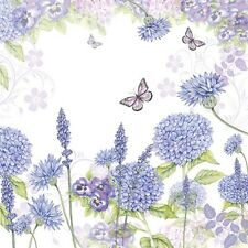 "ambiente Servilletas ""Morado Wildflowers"" Mariposas Prado Flores, Flores Púrpura"