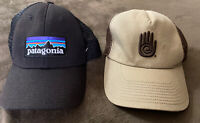 Patagonia And Teva  Snapback Black Tan Brown Trucker Hat With Mesh Top