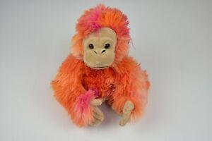 """FAO Schwarz Tie Die BABY GORILLA Ape Monkey 10"""" w/ Plush Flocked Face"""