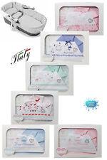 Completo lenzuola neonati per culla/carrozzina Made in Italy T&R BABY 91