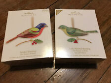 2 Hallmark Beauty Birds Lady Bunting Special Edition & Painted Bunting #8 2012