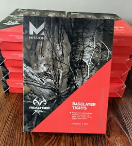 Mission Active Men's Realtree Xtra Baselayer Camo Tights Vapor Active - 2XL New