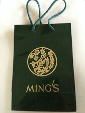 MING'S OF HONOLULU HAWAII STERLING GOLD IVORY JEWELRY MAKER STORE SHOPPING BAG