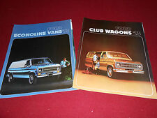 1975 FORD ECONOLINE VAN BROCHURE + FORD CLUB WAGON SALES CATALOG, 2 for 1