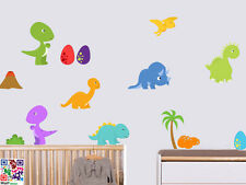 Childrens Dinosaurs Pack of 14 Wall Art Stickers Decals Murals Transfers T Rex